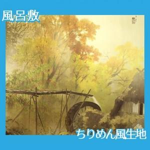 川合玉堂「彩雨」【風呂敷】