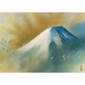 横山大観「霊峰飛鶴」【ハンカチ・コースター・複製画】