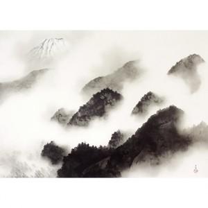 横山大観「雨霽る」【ハンカチ・コースター・複製画】
