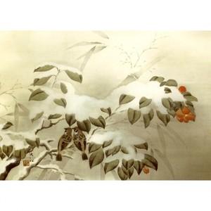 横山大観「冬之夕」【ハンカチ・コースター・複製画】