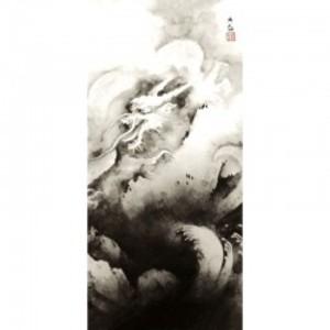 横山大観「龍興而致雲」【障子紙】