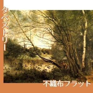 コロー「ヴィルーダヴレーの池」【タペストリー:不織布フラット100g】
