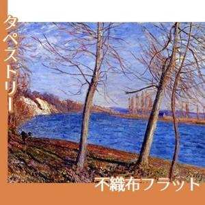 シスレー「ヴヌーの川岸」【タペストリー:不織布フラット100g】