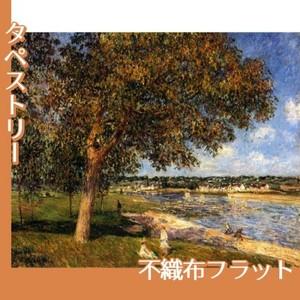 シスレー「トメリの草原のくるみの木」【タペストリー:不織布フラット100g】