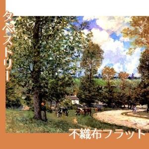 シスレー「牧場の牛、ルーヴシエンヌ」【タペストリー:不織布フラット100g】