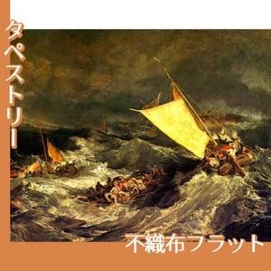 ターナー「難破船:乗組員の救助に努める漁船」【タペストリー:不織布フラット100g】