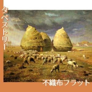 ミレー「秋:積み藁」【タペストリー:不織布フラット100g】