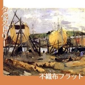 モリゾ「建造中の船」【タペストリー:不織布フラット100g】