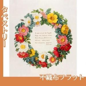 ルドゥーテ「バラ図譜の口絵」【タペストリー:不織布フラット100g】