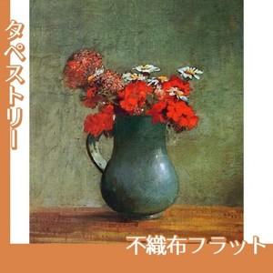 ルドン「花びんと花」【タペストリー:不織布フラット100g】