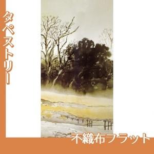 川合玉堂「寒流暮靄1」【タペストリー:不織布フラット100g】