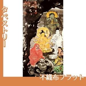 富岡鉄斎「古仏龕図」【タペストリー:不織布フラット100g】