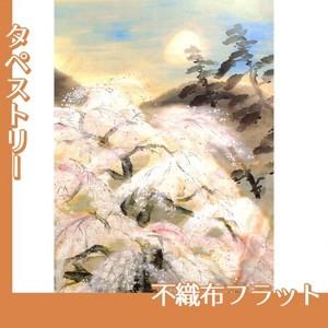 冨田溪仙「祇園夜桜図」【タペストリー:不織布フラット100g】