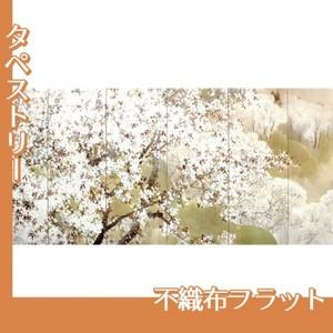 木島桜谷「小雨ふる吉野(左)」【タペストリー:不織布フラット100g】
