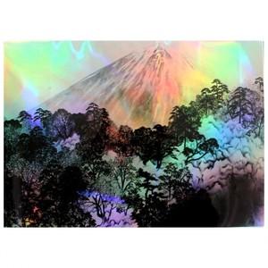 横山大観「春光る:樹海」【ホログラム額装向け複製画】