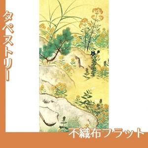 横山大観「野の花4」【タペストリー:不織布フラット100g】