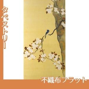 酒井抱一「桜に小禽図・柿に小禽図(右隻)」【タペストリー:不織布フラット100g】