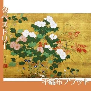 酒井抱一「秋草花卉図」【タペストリー:不織布フラット100g】