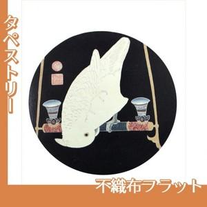 伊藤若冲「花鳥版画(六枚) 六.鸚鵡図」【タペストリー:不織布フラット100g】