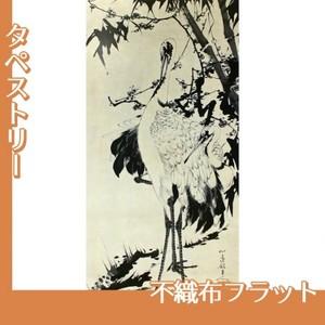 伊藤若冲「竹梅群鶴図1(双幅)」【タペストリー:不織布フラット100g】