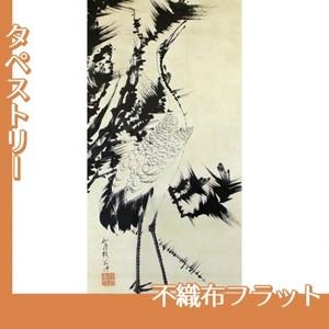 伊藤若冲「竹梅群鶴図2(双幅)」【タペストリー:不織布フラット100g】