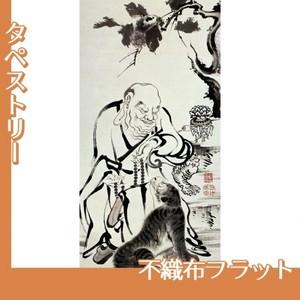 伊藤若冲「十六羅漢図(六幅) 二」【タペストリー:不織布フラット100g】