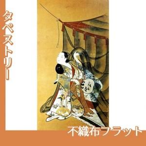 懐月堂安度「蚊帳美人図」【タペストリー:不織布フラット100g】