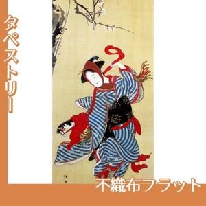 勝川春章「春駒図」【タペストリー:不織布フラット100g】
