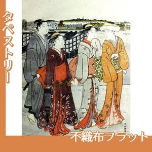 勝川春潮「三囲詣1」【タペストリー:不織布フラット100g】