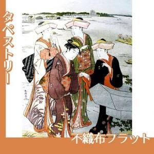勝川春潮「三囲詣3」【タペストリー:不織布フラット100g】