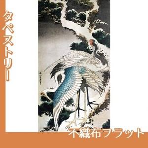 葛飾北斎「雪松に鶴」【タペストリー:不織布フラット100g】