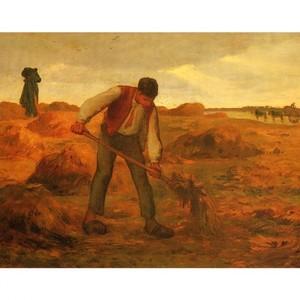 ミレー「堆肥をまく農夫」【ハンカチ・コースター・複製画】