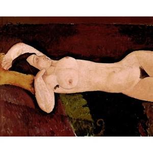 モディリアニ「横たわる裸婦」【ハンカチ・コースター・複製画】