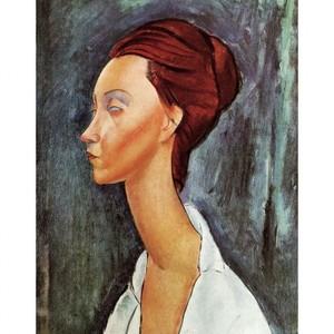 モディリアニ「ル二ア・チェコウスカの肖像」【ハンカチ・コースター・複製画】