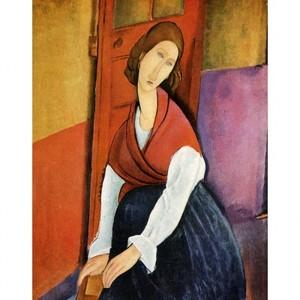 モディリアニ「ジャンヌ・エビュテルヌの肖像」【ハンカチ・コースター・複製画】