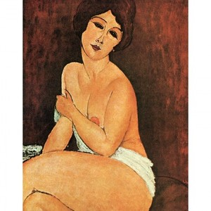 モディリアニ「安楽椅子の上の裸婦」【ハンカチ・コースター・複製画】