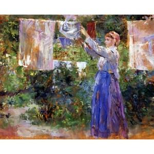 モリゾ「洗濯する女性」【ハンカチ・コースター・複製画】