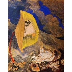 ルドン「海底の幻想」【ハンカチ・コースター・複製画】