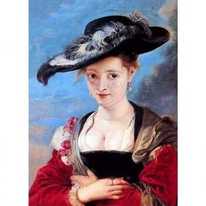ルーベンス「スザンナ・フールマンまたは麦わら帽子」【ハンカチ・コースター・複製画】