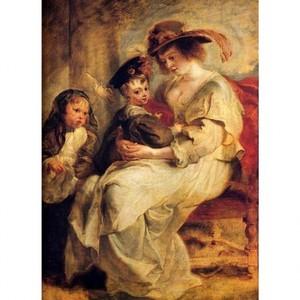 ルーベンス「エレーヌ・フールマンと子供たち」【ハンカチ・コースター・複製画】