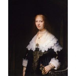 レンブラント「マリア・トリップの肖像」【ハンカチ・コースター・複製画】
