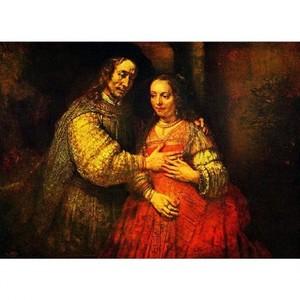 レンブラント「結婚した二人(ユダヤの花嫁)」【ハンカチ・コースター・複製画】