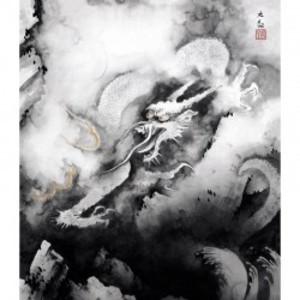 横山大観「龍興而致雲」【ハンカチ・コースター・複製画】