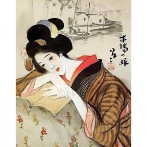 竹久夢二「木場の娘」【ハンカチ・コースター・複製画】