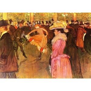 ロートレック「ムーラン・ルージュにて:踊り」【ハンカチ・コースター・複製画】