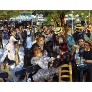 ルノワール「ムーラン・ド・ラ・ギャレットの舞踏会」【ハンカチ・コースター・複製画】