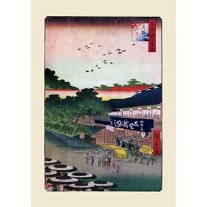 歌川広重「名所江戸百景 上野山した」【ハンカチ・コースター・複製画】