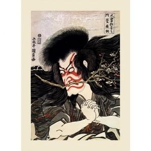 歌川国貞「大当狂言之内 菅丞相」【ハンカチ・コースター・複製画】
