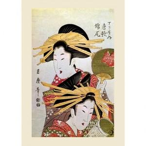 喜多川月麿「丁子屋内唐歌 錦尾」【ハンカチ・コースター・複製画】