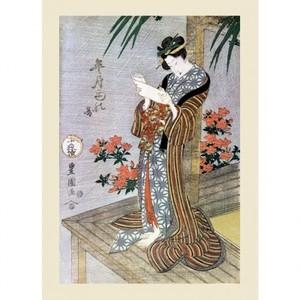 歌川豊国「皐月雨の図」【ハンカチ・コースター・複製画】